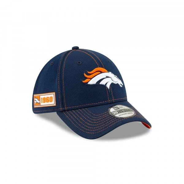 Denver Broncos 2019 NFL On-Field Sideline 39THIRTY Stretch Cap Road