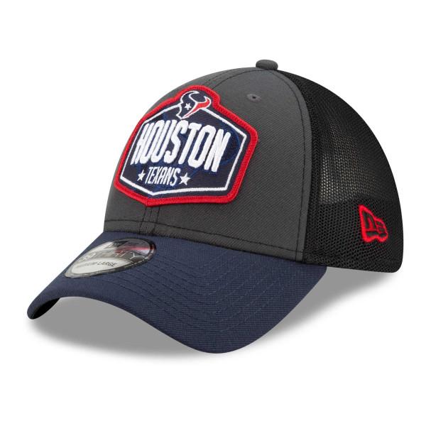 Houston Texans Official 2021 NFL Draft New Era 39THIRTY Flex Fit Cap