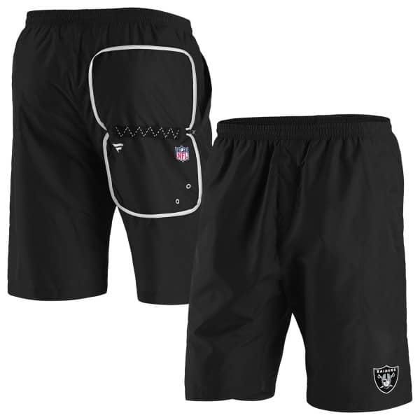Las Vegas Raiders Enhanced Sport Fanatics NFL Shorts Schwarz