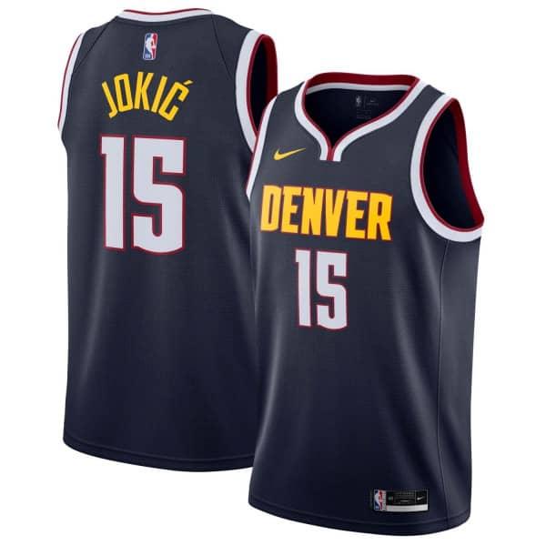 premium selection 29990 7226c Nikola Jokić #15 Denver Nuggets Icon Swingman NBA Jersey Navy