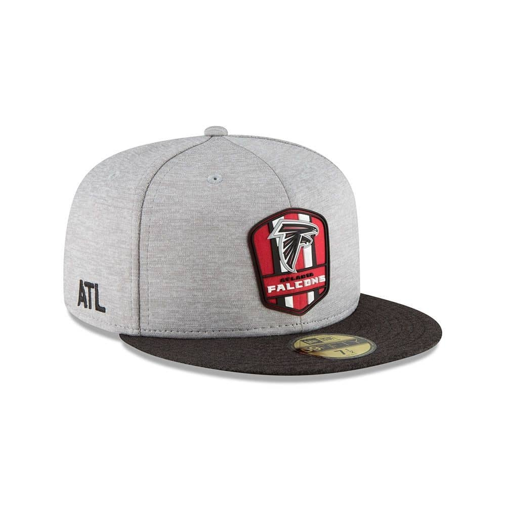 7946eb65b New Era Atlanta Falcons 2018 NFL Sideline 59FIFTY Fitted Cap Road ...