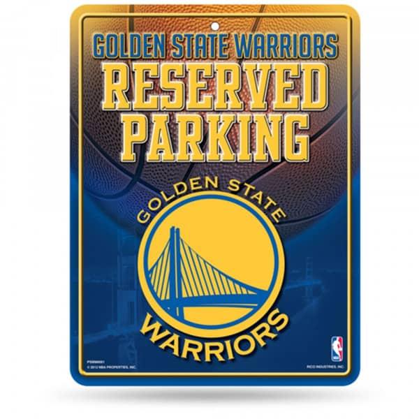 Golden State Warriors Reserved Parking NBA Metallschild