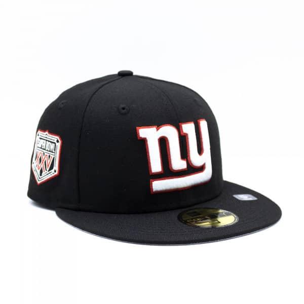 New York Giants Super Bowl XXV New Era 59FIFTY Fitted NFL Cap Schwarz