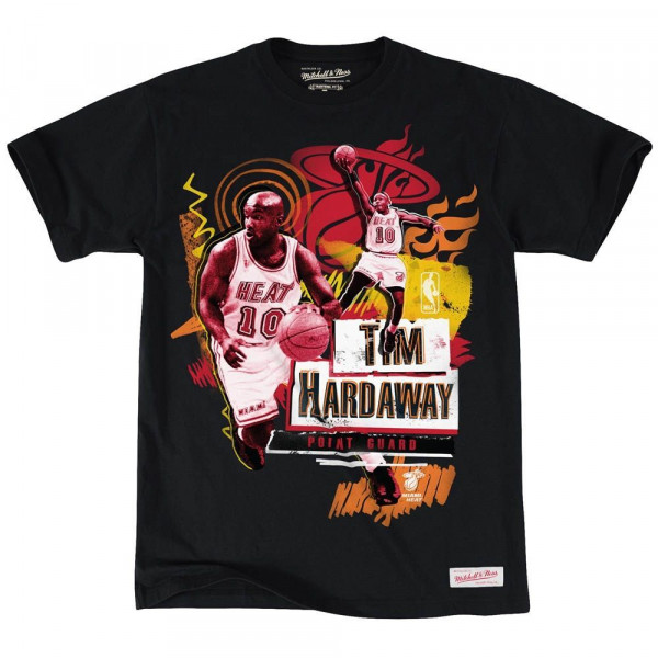 Miami Heat Tim Hardaway Tailored Player NBA T-Shirt Schwarz