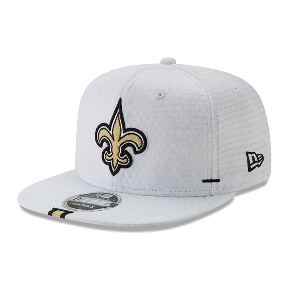 93b175ed New Orleans Saints 2019 NFL Training 9FIFTY Snapback Cap White