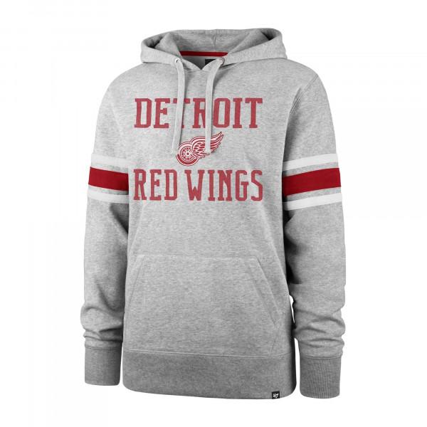 Detroit Red Wings Stripe Sleeve '47 Double Block NHL Hoodie Grau