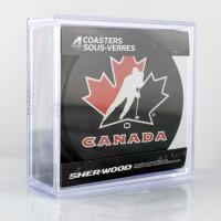 Team Canada Eishockey Puck Untersetzer (4er Set)