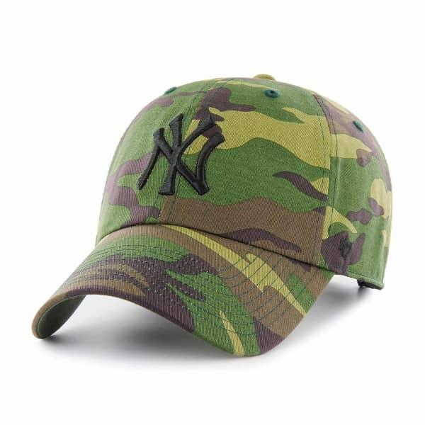 878800fb382b5 47 Brand New York Yankees Unwashed Camo Clean Up Adjustable MLB Cap ...