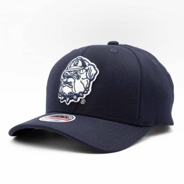 Georgetown Hoyas Logo Mitchell & Ness Classic Red Stretch Snapback NCAA Cap
