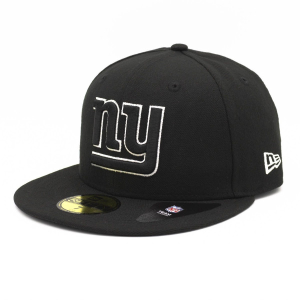 New York Giants Black & White 59FIFTY Fitted NFL Cap