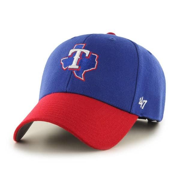 Texas Rangers '47 MVP Adjustable MLB Cap Home Blau/Rot
