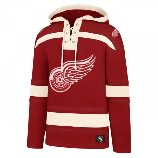 Detroit Red Wings Lacer Jersey Hoodie NHL Sweatshirt