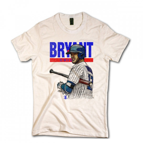 Chicago Cubs Chris Bryant MLB T-Shirt Beige