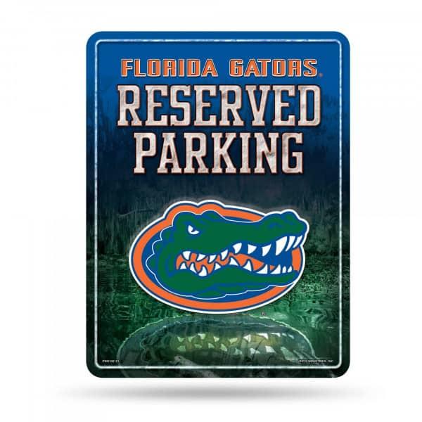 Florida Gators Reserved Parking NCAA Metallschild