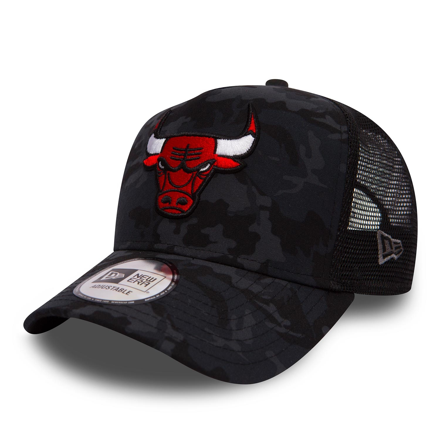 f9a3dfa5e New Era Chicago Bulls Black Camo Team Trucker NBA Cap