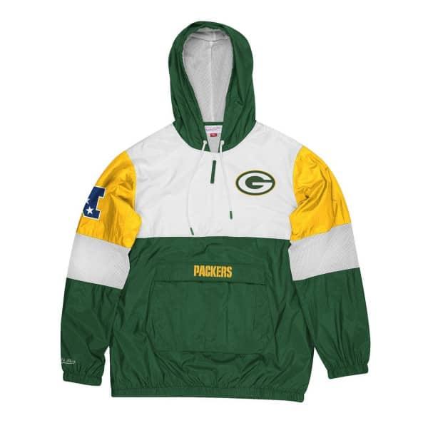 Green Bay Packers Surprise Win Mitchell & Ness NFL Windbreaker Jacke