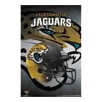 Jacksonville Jaguars Helmet Football NFL Poster