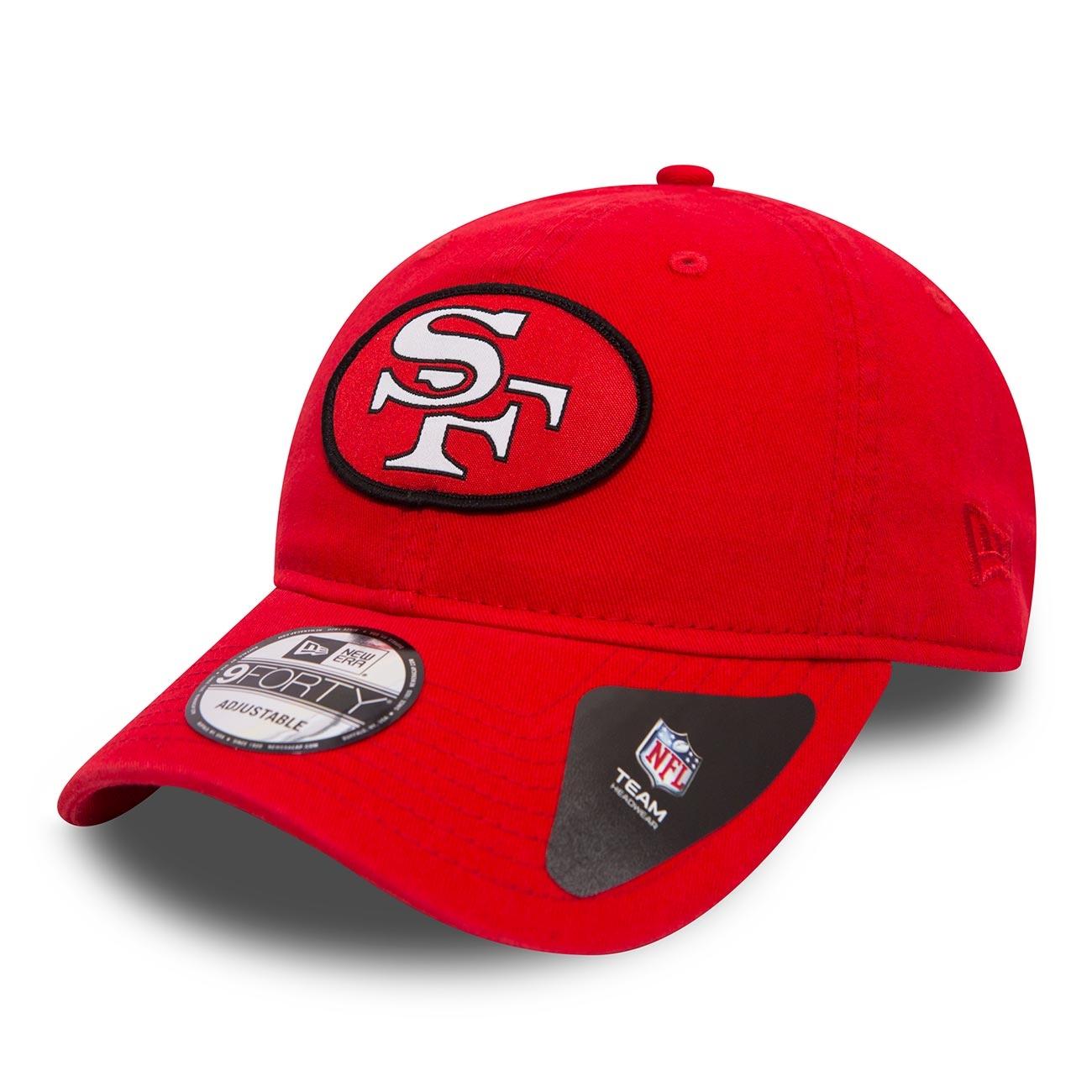 reputable site f5a4d 8c037 New Era San Francisco 49ers Classic Patch Adjustable NFL Cap Red   TAASS.com  Fan Shop
