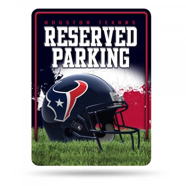 Houston Texans Reserved Parking NFL Metallschild