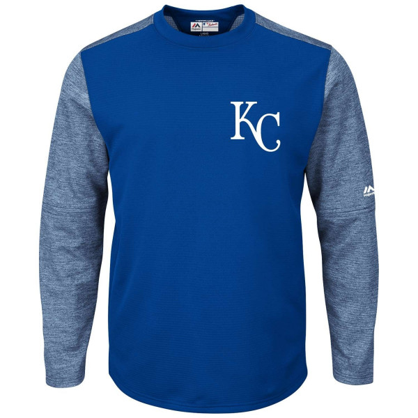 Kansas City Royals Authentic Tech Fleece Crewneck MLB Sweatshirt