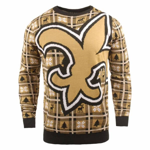 New Orleans Saints Big Logo NFL Ugly Holiday Sweater