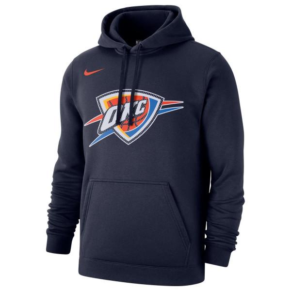 Oklahoma City Thunder Mesh Logo NBA Sweatshirt Hoodie