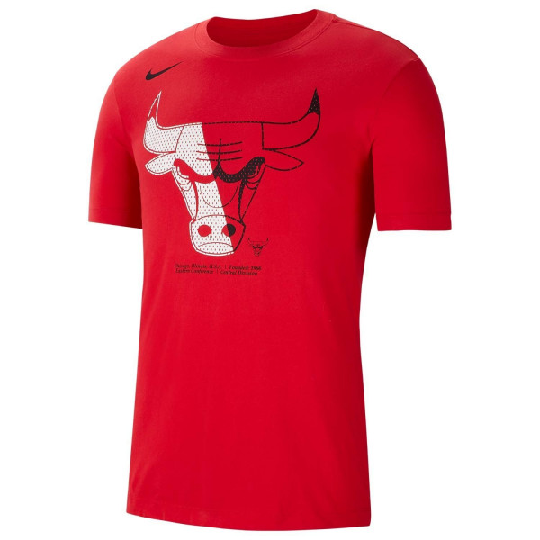 Chicago Bulls Bold Logo Dri-FIT NBA T-Shirt Rot