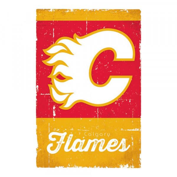 Calgary Flames Retro Team Logo Eishockey NHL Poster