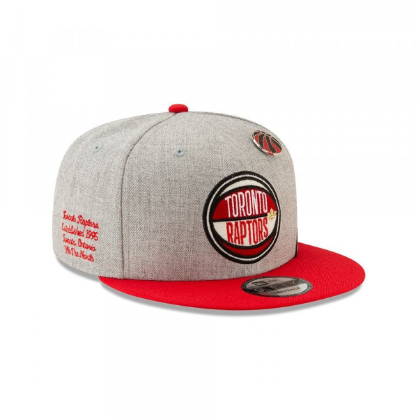 outlet store 5abee 71657 New Era Toronto Raptors 2019 NBA Draft 9FIFTY Snapback Cap Heather Grey    TAASS.com Fan Shop