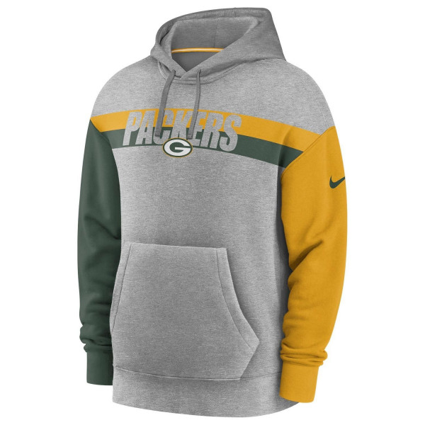 Green Bay Packers 2020 NFL Wordmark Heritage Nike Tri-Blend Hoodie