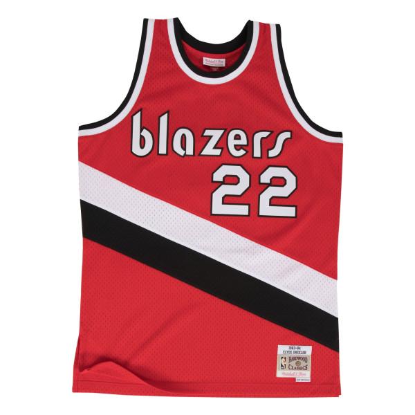 0f3bb0b3704a Mitchell   Ness Clyde Drexler  22 Portland Trail Blazers 1983-84 Swingman  NBA Jersey Red