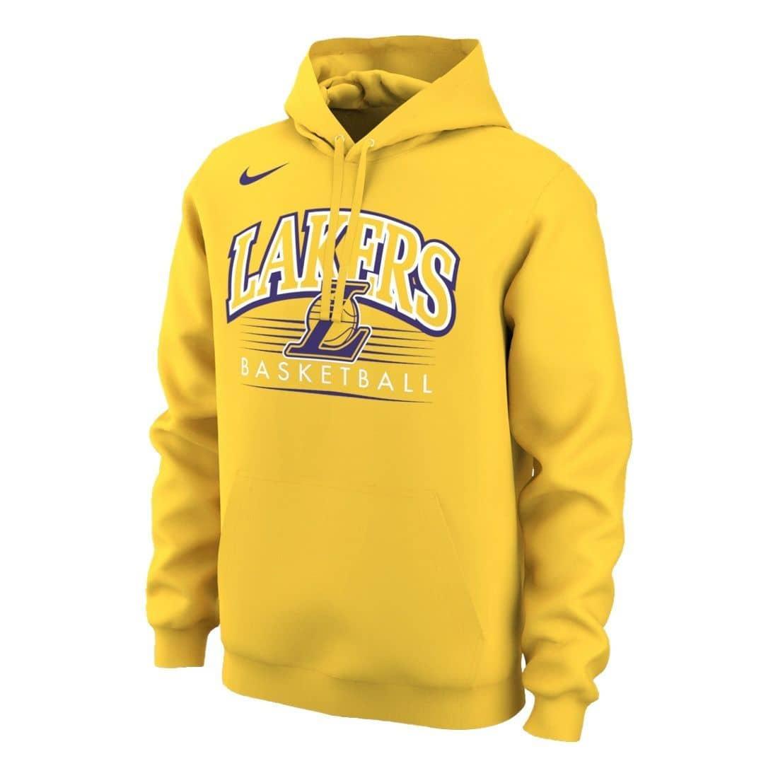 check out e7412 ef288 Nike Los Angeles Lakers Crest Logo NBA Sweatshirt Hoodie Yellow   TAASS.com  Fan Shop
