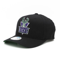 Milwaukee Bucks Cotton Team 110 Stretch Snapback NBA Cap Schwarz