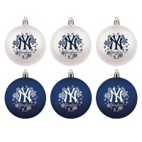 New York Yankees MLB Weihnachtskugeln Geschenk-Set (6-Teilig)