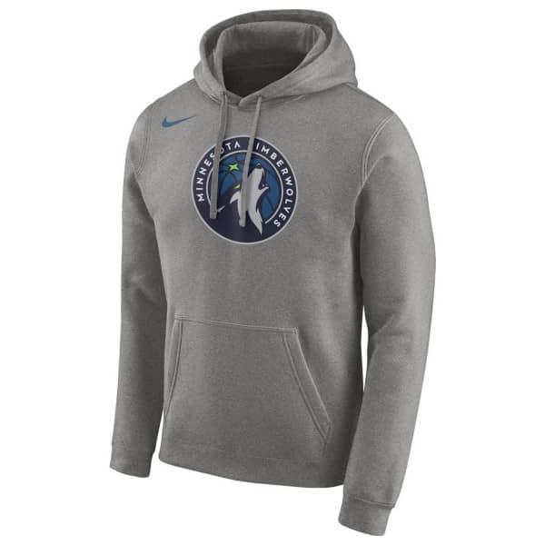 Minnesota Timberwolves Team Logo NBA Hoodie Grau
