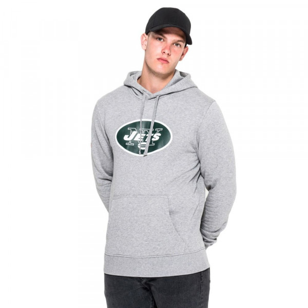 New York Jets Logo Hoodie NFL Sweatshirt Grau