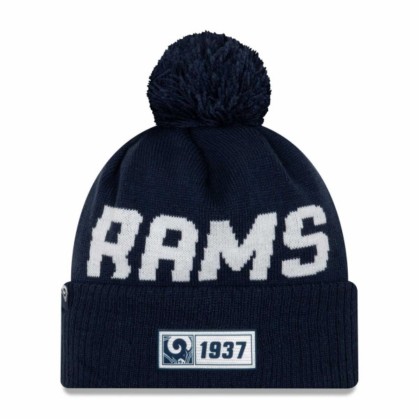 Los Angeles Rams 2019 NFL Sideline Sport Knit Wintermütze Road