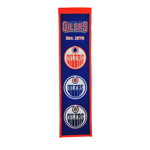 Edmonton Oilers NHL Premium Heritage Banner