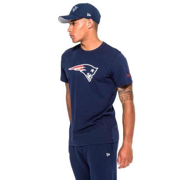 New England Patriots Team Logo Football NFL T-Shirt Navy
