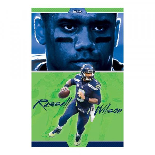 Seattle Seahawks Russell Wilson Superstar NFL Poster
