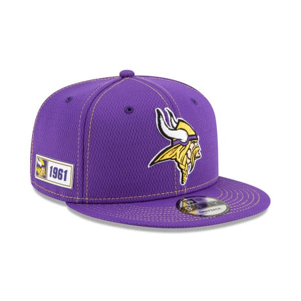 Minnesota Vikings 2019 NFL On-Field Sideline 9FIFTY Snapback Cap Road