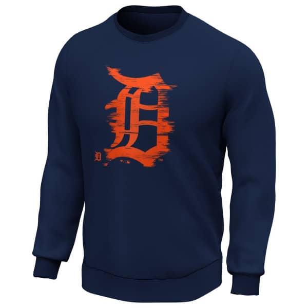 Detroit Tigers 2020 Doorbusters Worn Fanatics Core MLB Crewneck Pullover