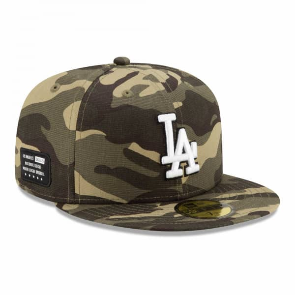 Los Angeles Dodgers 2021 MLB Authentic Armed Forces New Era 59FIFTY Fitted Cap