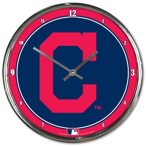 Cleveland Indians Chrome MLB Wanduhr
