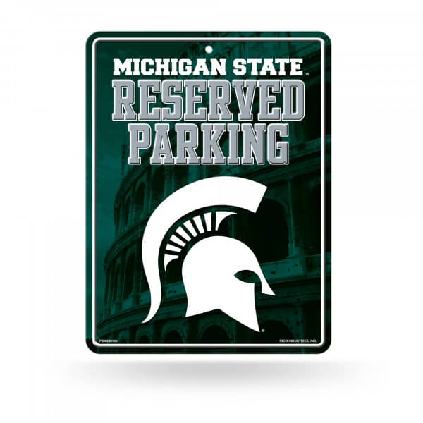 Michigan State Spartans Reserved Parking NCAA Metallschild