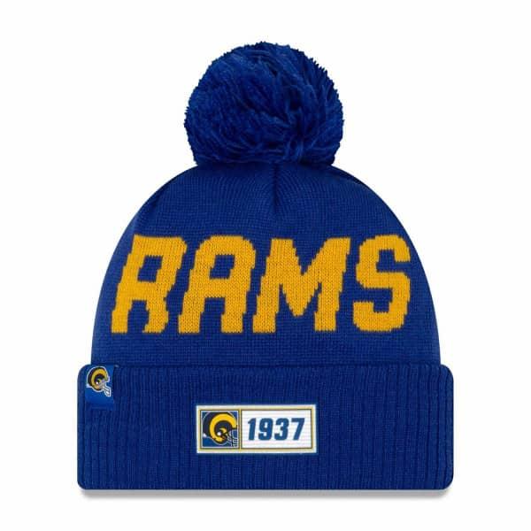 Los Angeles Rams Throwback 2019 NFL Sideline Sport Knit Wintermütze Road