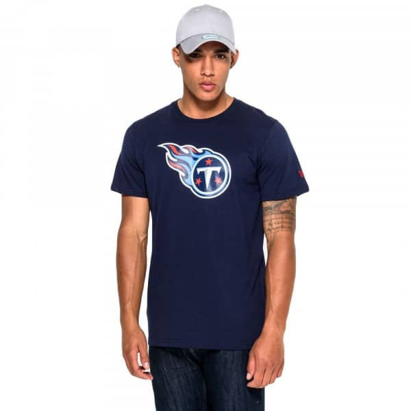 Tennessee Titans Team Logo Football NFL T-Shirt Navy