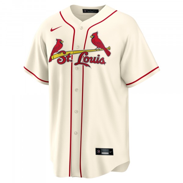 St. Louis Cardinals Nike MLB Replica Alternate Trikot Beige