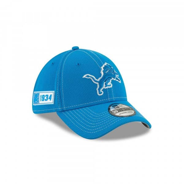 Detroit Lions 2019 NFL On-Field Sideline 39THIRTY Stretch Cap Road