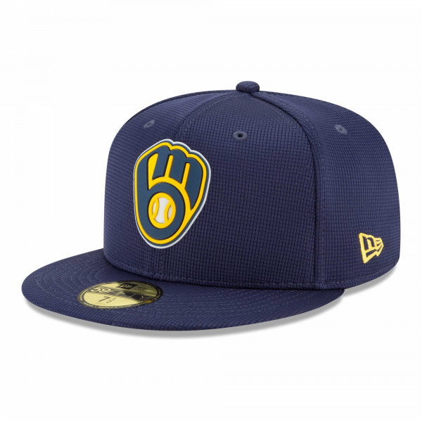Milwaukee Brewers 2021 MLB Authentic Clubhouse New Era 59FIFTY Fitted Cap